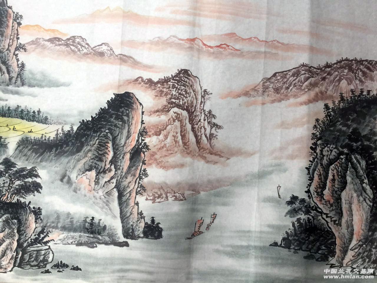 初一美术画风景山河